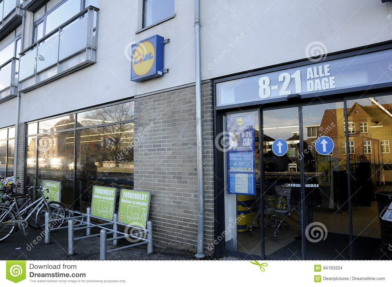 Lidl Salon Lidl German Chain Food Market Editorial Stock Image Image