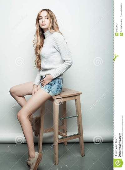 Lifestyle, Fashion And People Concept: Full Body Portrait ...