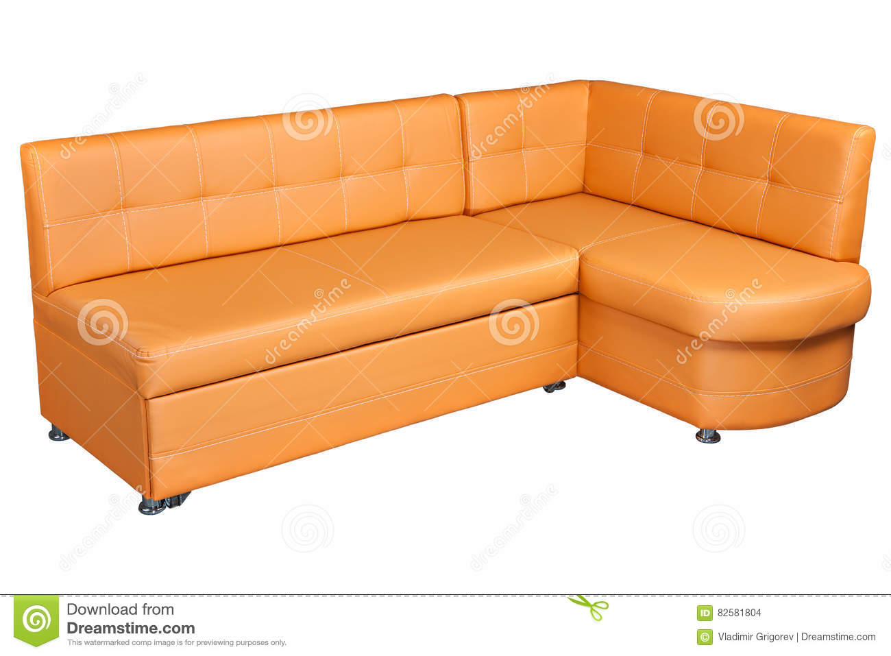 Dinner Sofa Light Brown Sectional Imitation Leather Corner Sofa Couch Dinner