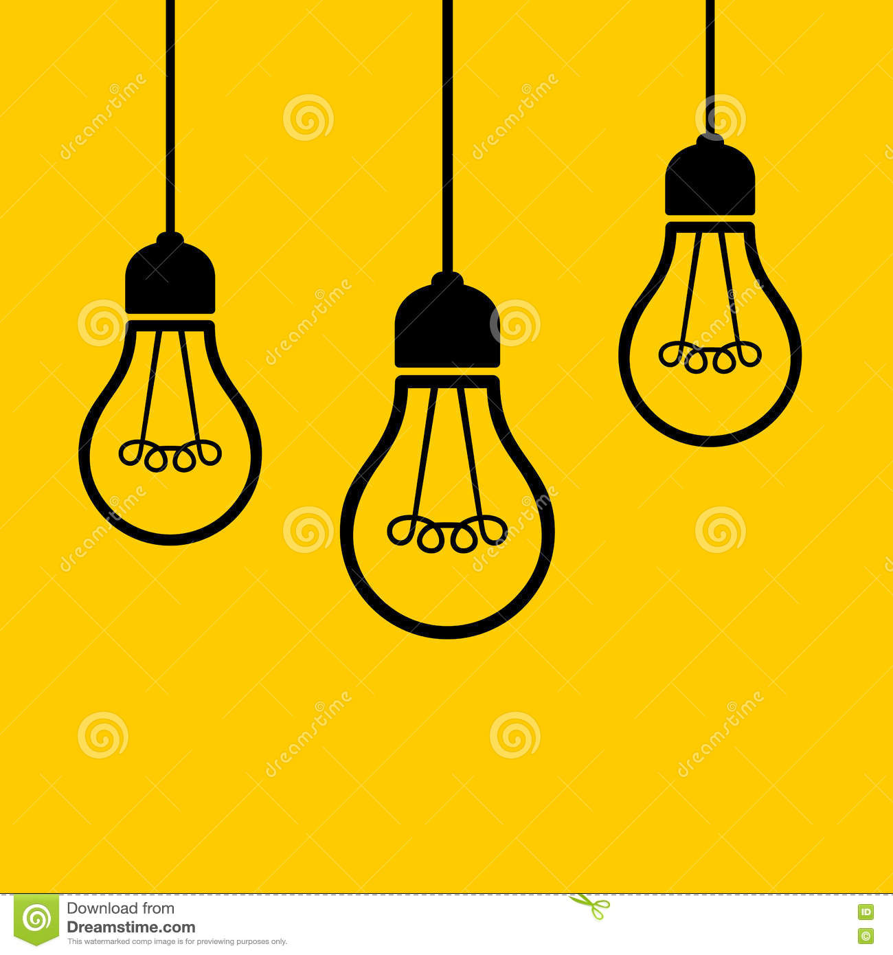Ceiling Design Vector Light Bulbs Hanging From The Ceiling Vector Stock Vector
