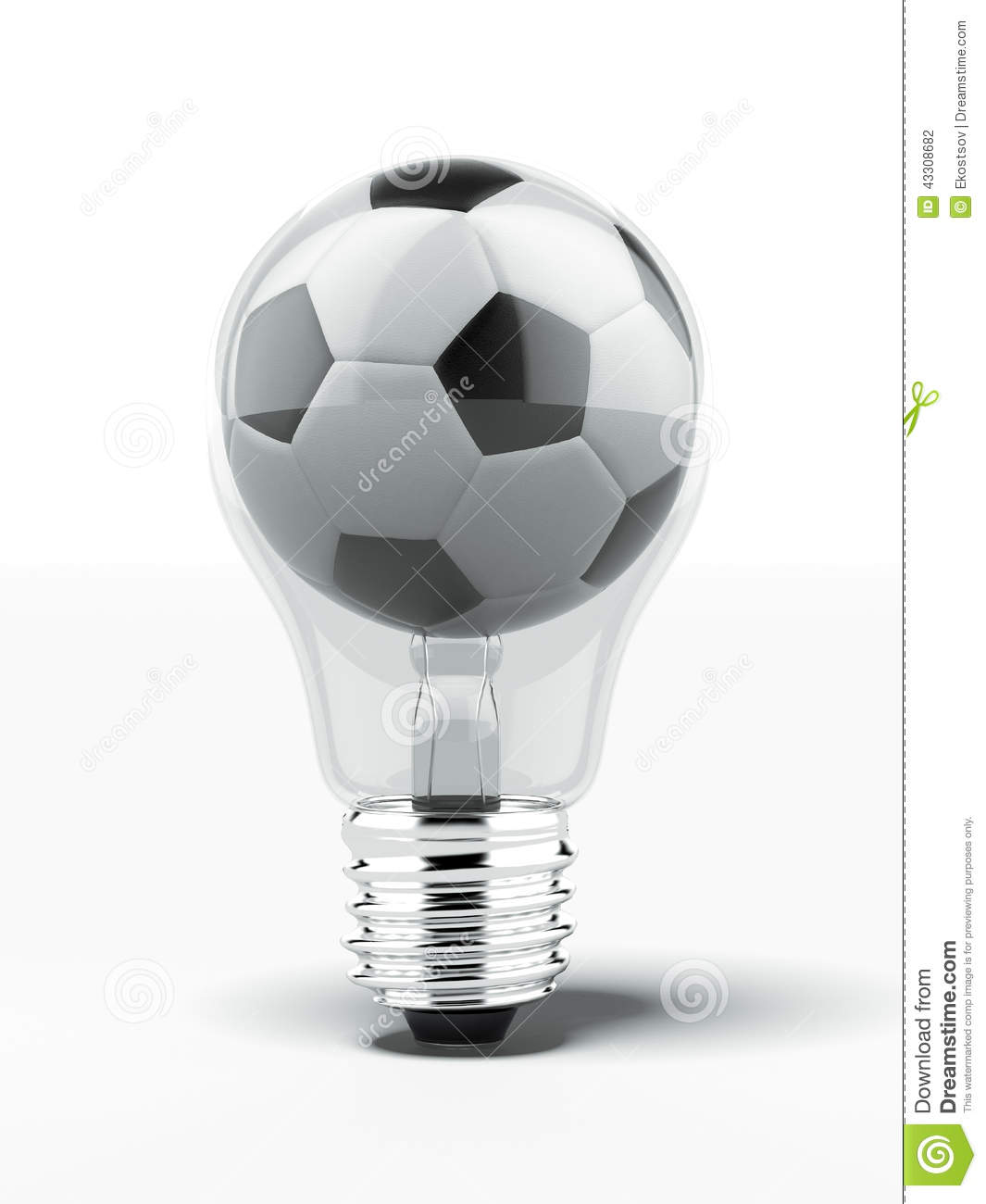 Conserve Electricity Lightbulb With Football Inside Stock Photo Image Of Conserve