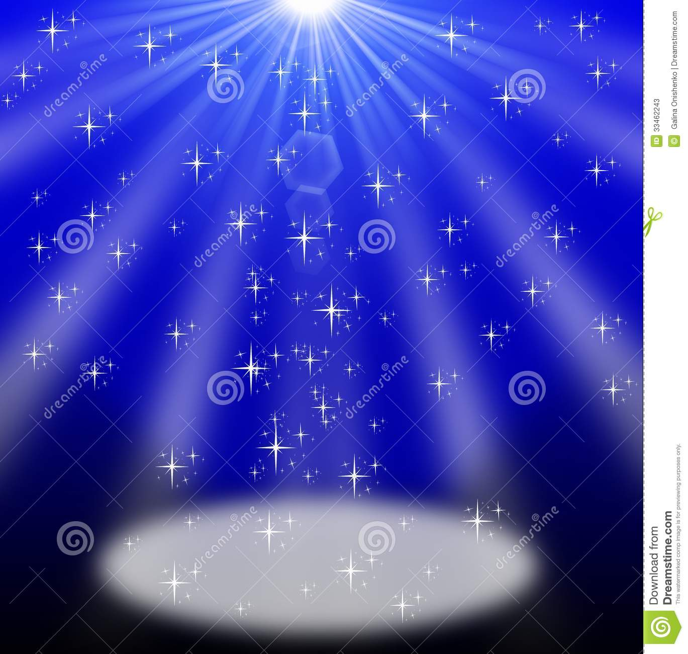 3d Effect Wallpapers Free Download Lighted Up Stage Bright Blue Background For A Design Stock