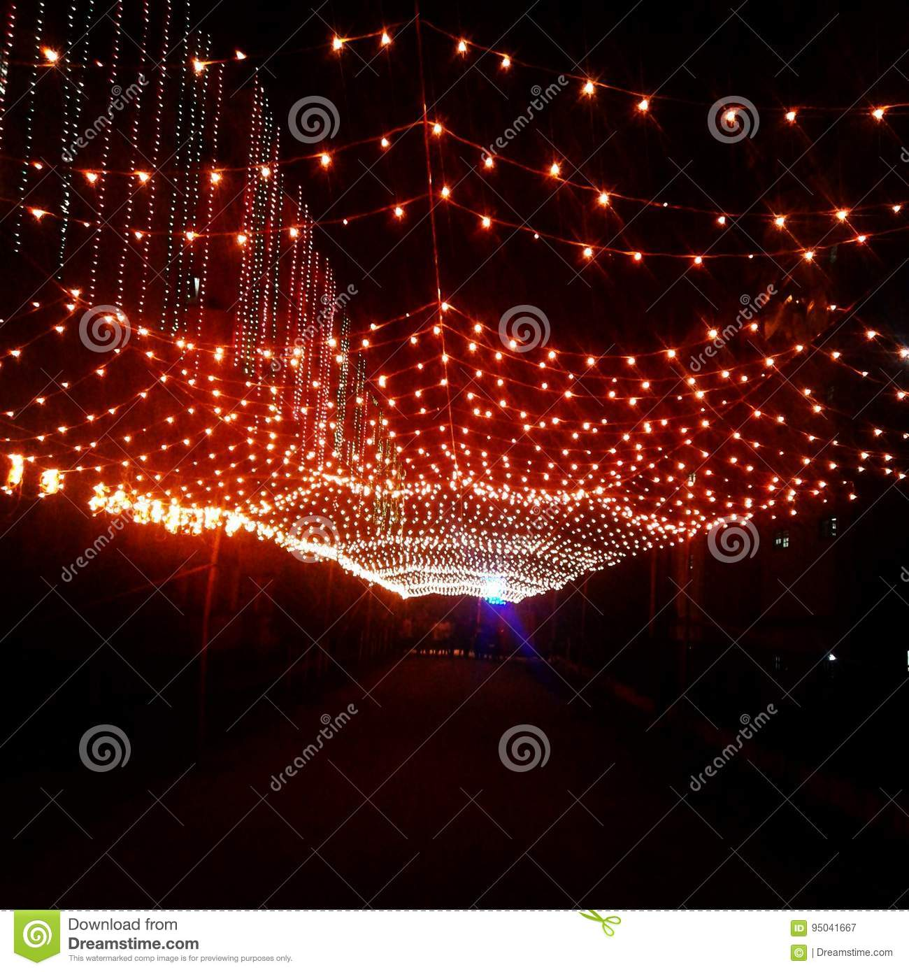 Light Decoration Diwali Lights Will Guide You Beautiful Diwali Decorations Stock