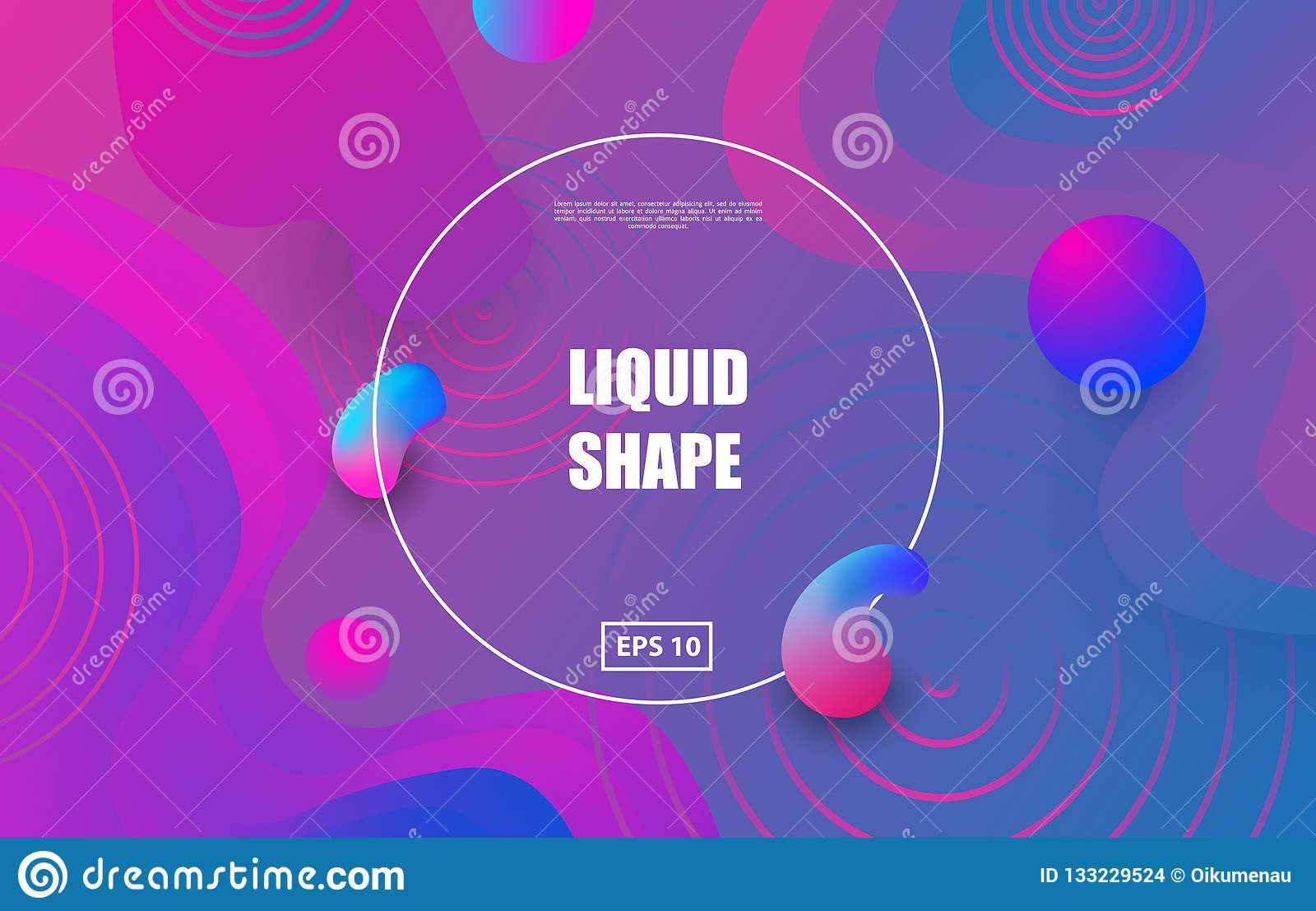 Futuristik Design Liquid Color Background Design Fluid Gradient Shapes Composition
