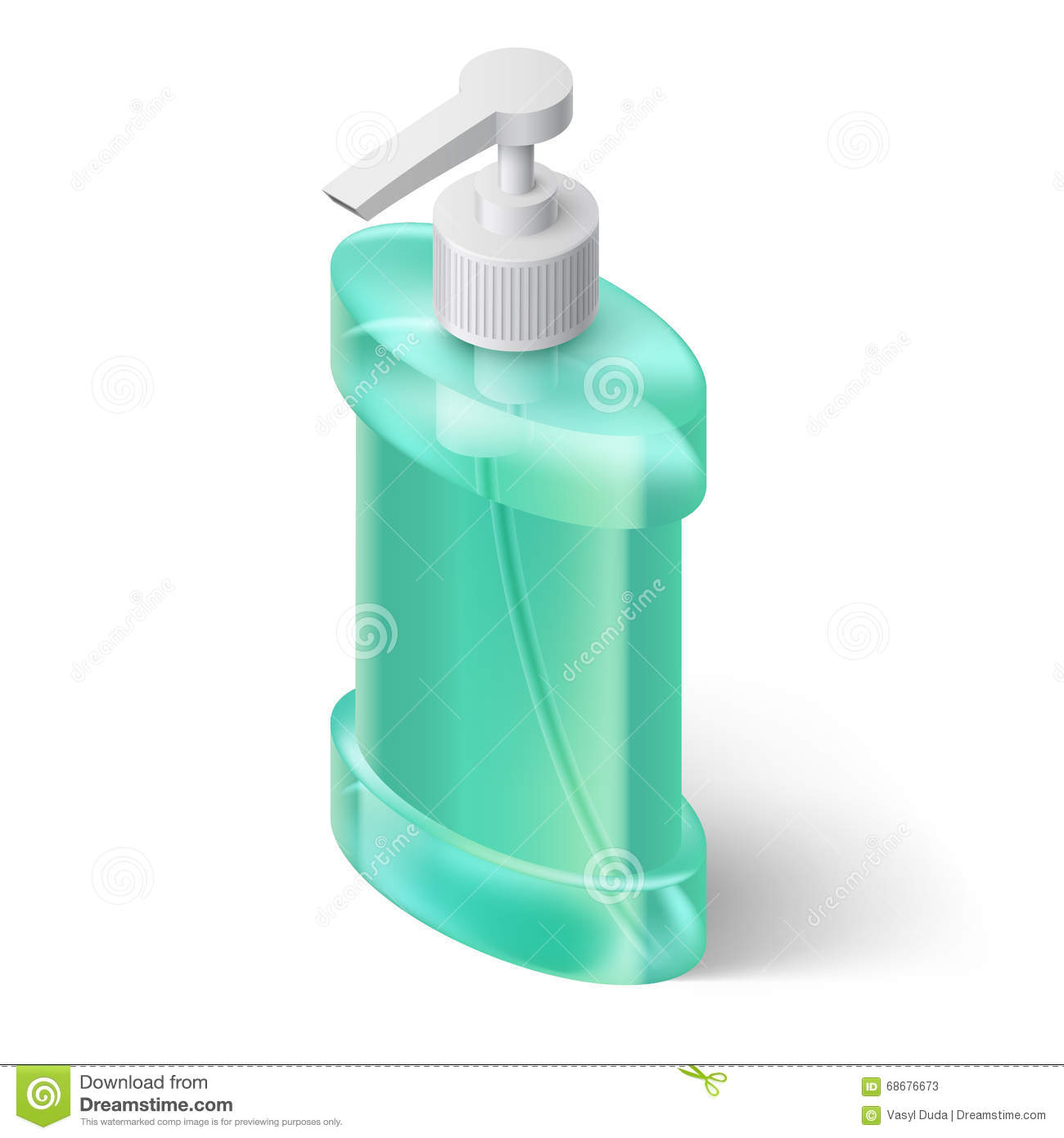 Stylish Soap Dispenser Liquid Soap Dispenser Stock Vector Image 68676673