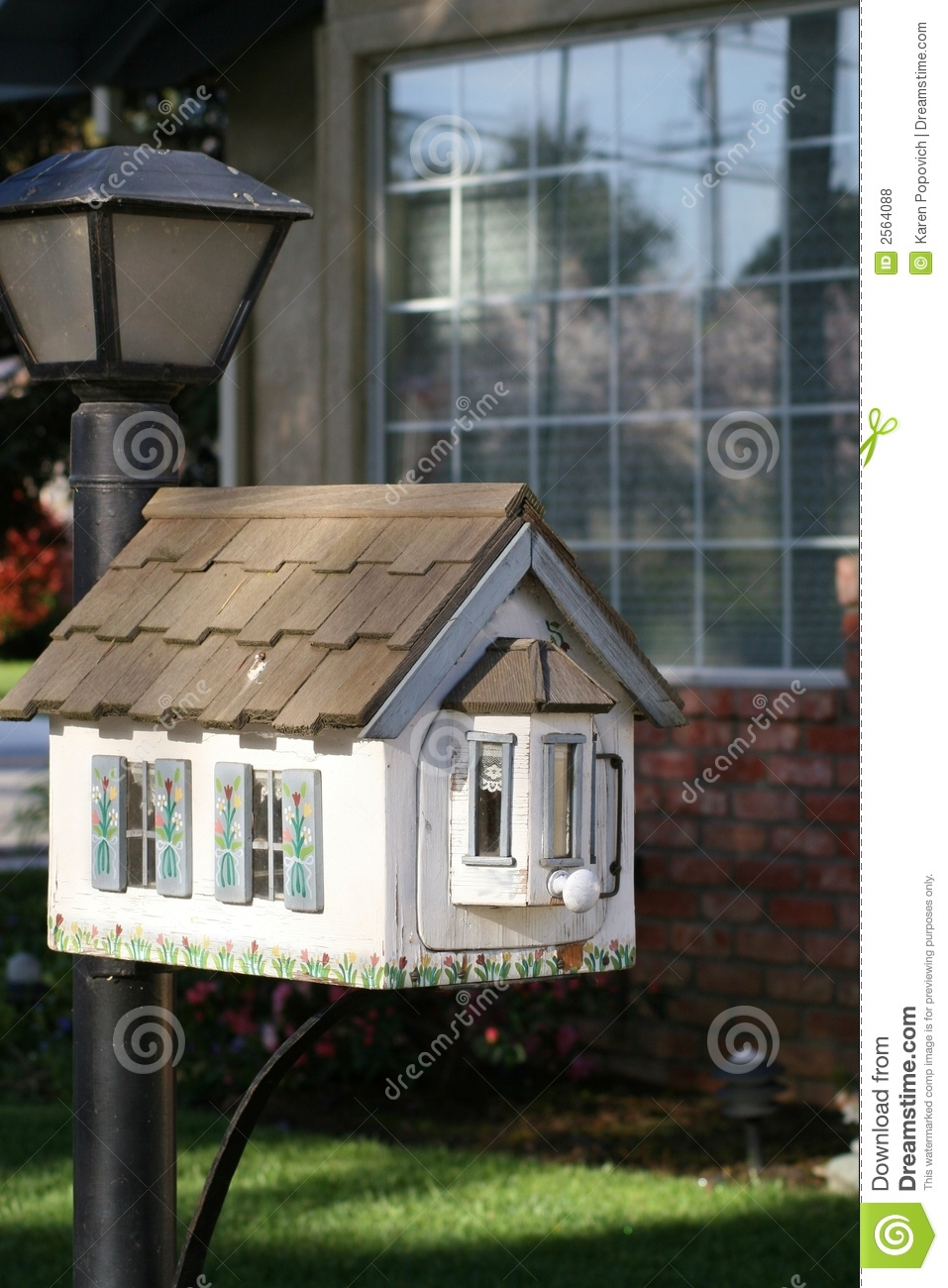 Letter Lamp Little House Mailbox Stock Photo. Image Of Mailbox, Little