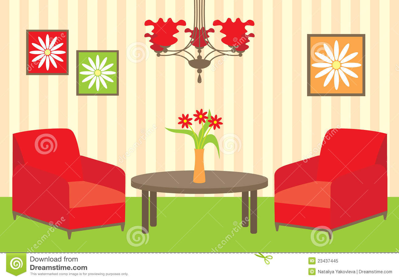 Wohnzimmer Cartoon Living Room Royalty Free Stock Photo Image 23437445