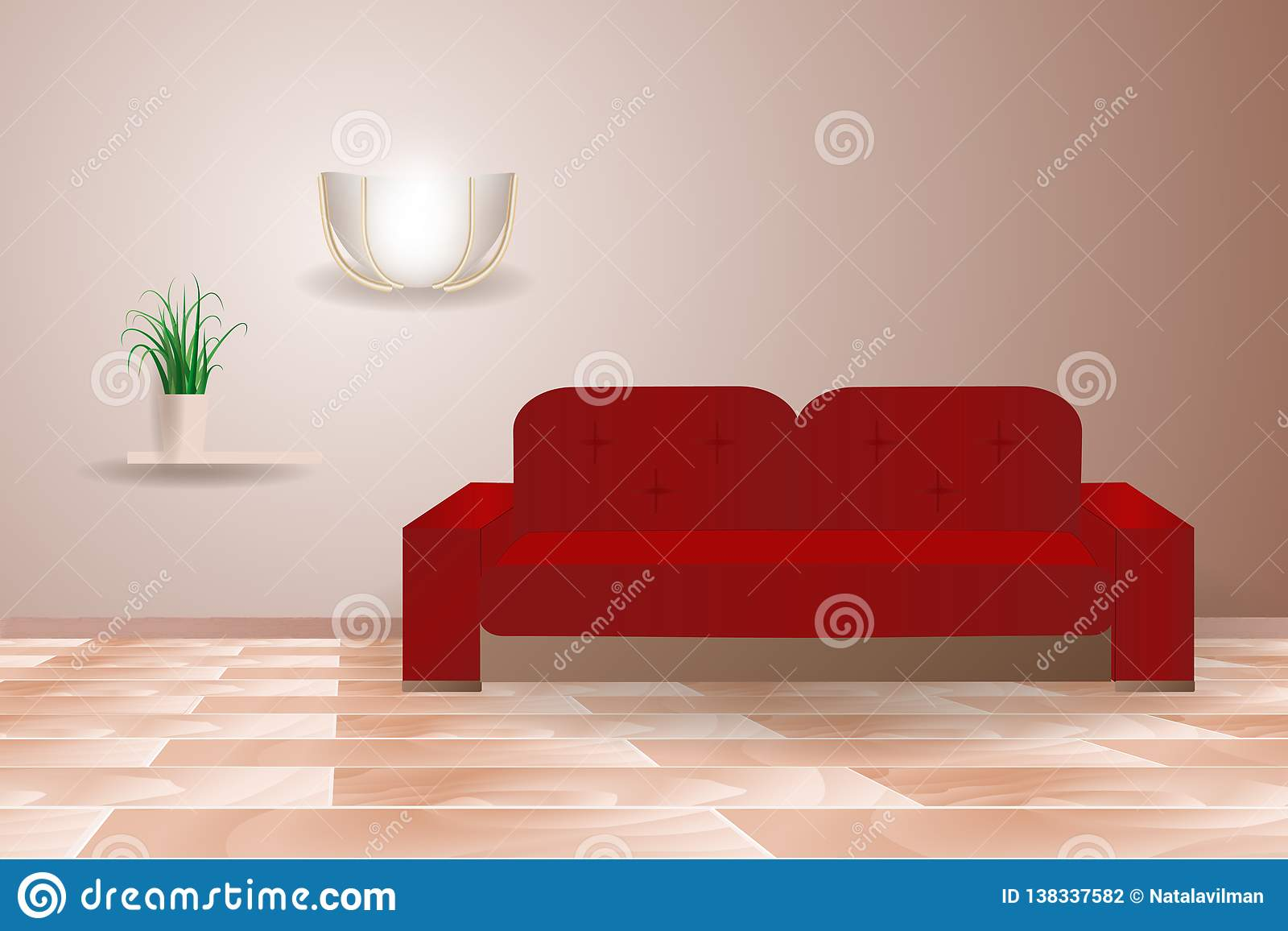 Fietswiel Verlichting Intertoys Room Interior Sofa Living Realistic Red With Furniture Composition