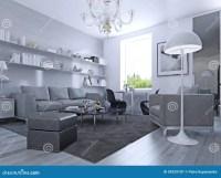Living Room In Modern Style Stock Illustration ...