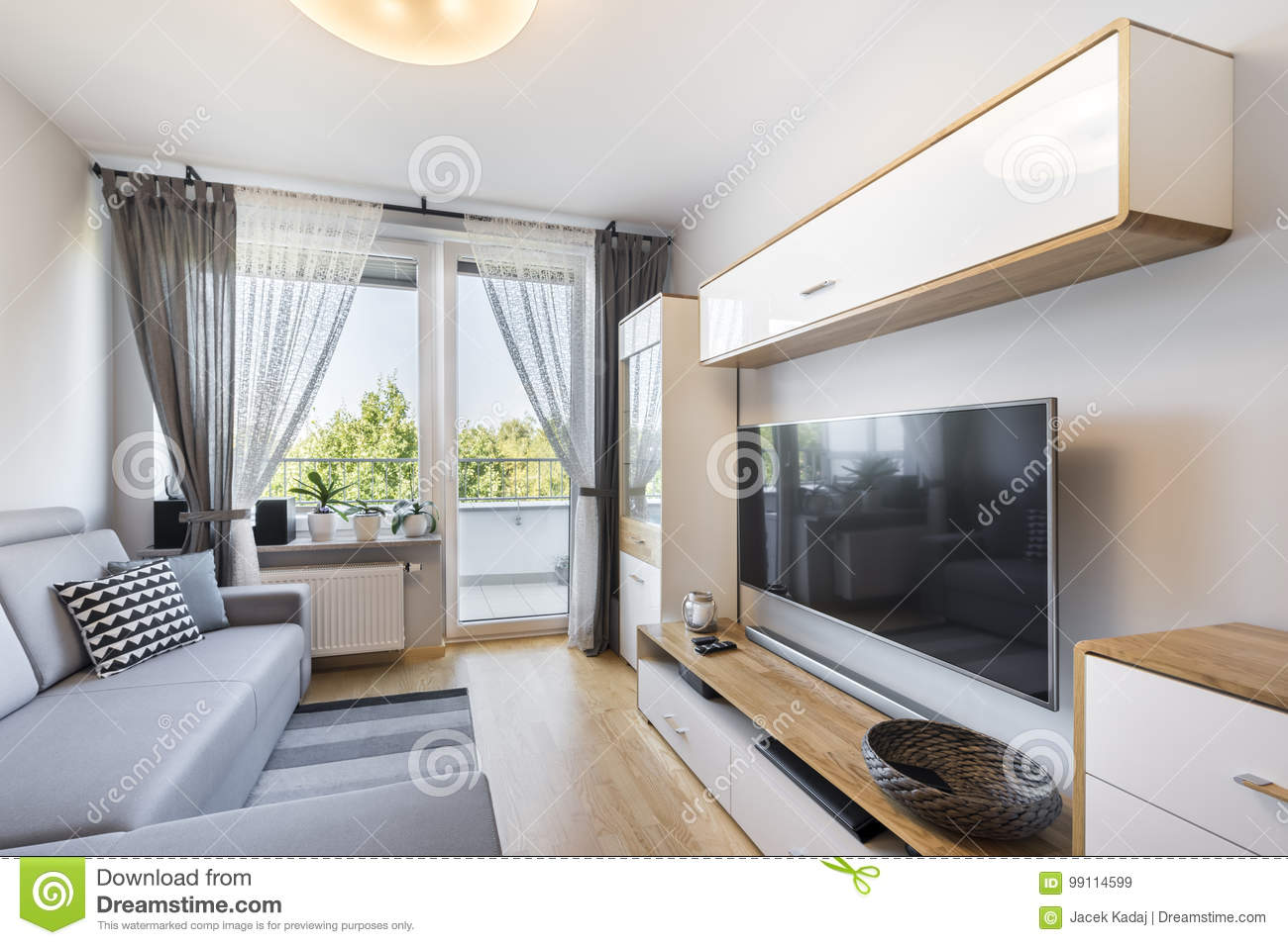 Small Apartment Interior Living Room In Small Apartment Stock Image Image Of Corner