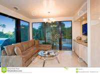 Living Room With View Of Patio Stock Image - Image: 33891911