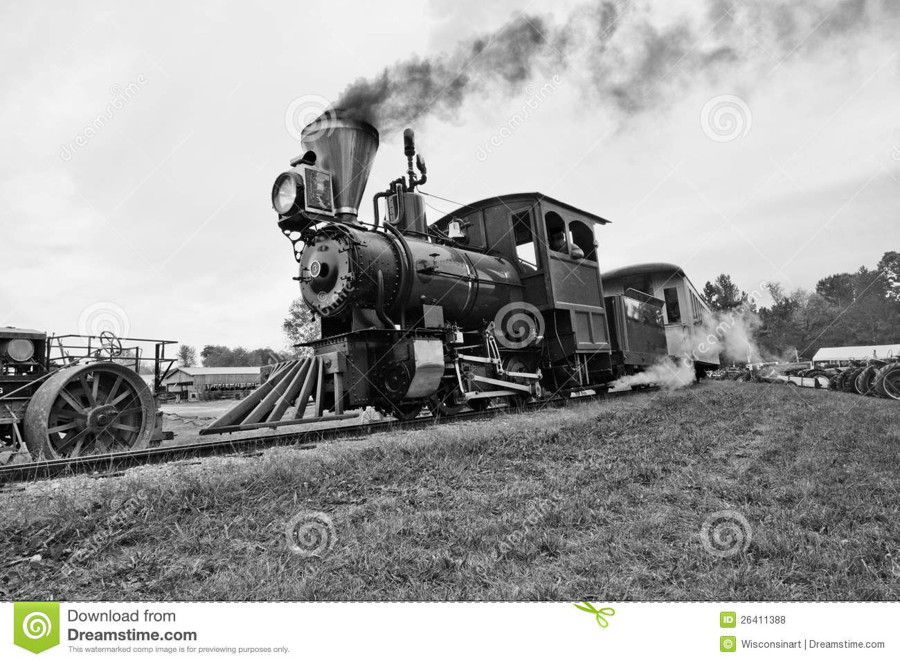 Old Time Car Wallpaper Hd Locomotive Ancienne De Train De Vapeur De Cru Photo Stock