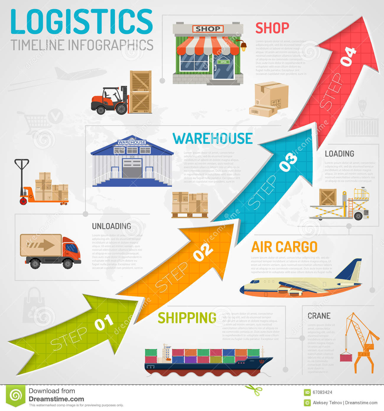 Warehouse Website Logistics Infographics Stock Vector Illustration Of Shop
