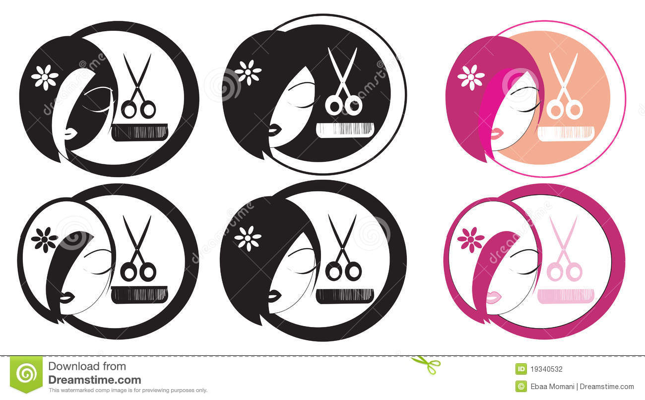 Logo Salon De Coiffure Logo De Coiffure Illustration Stock Illustration Du Signe