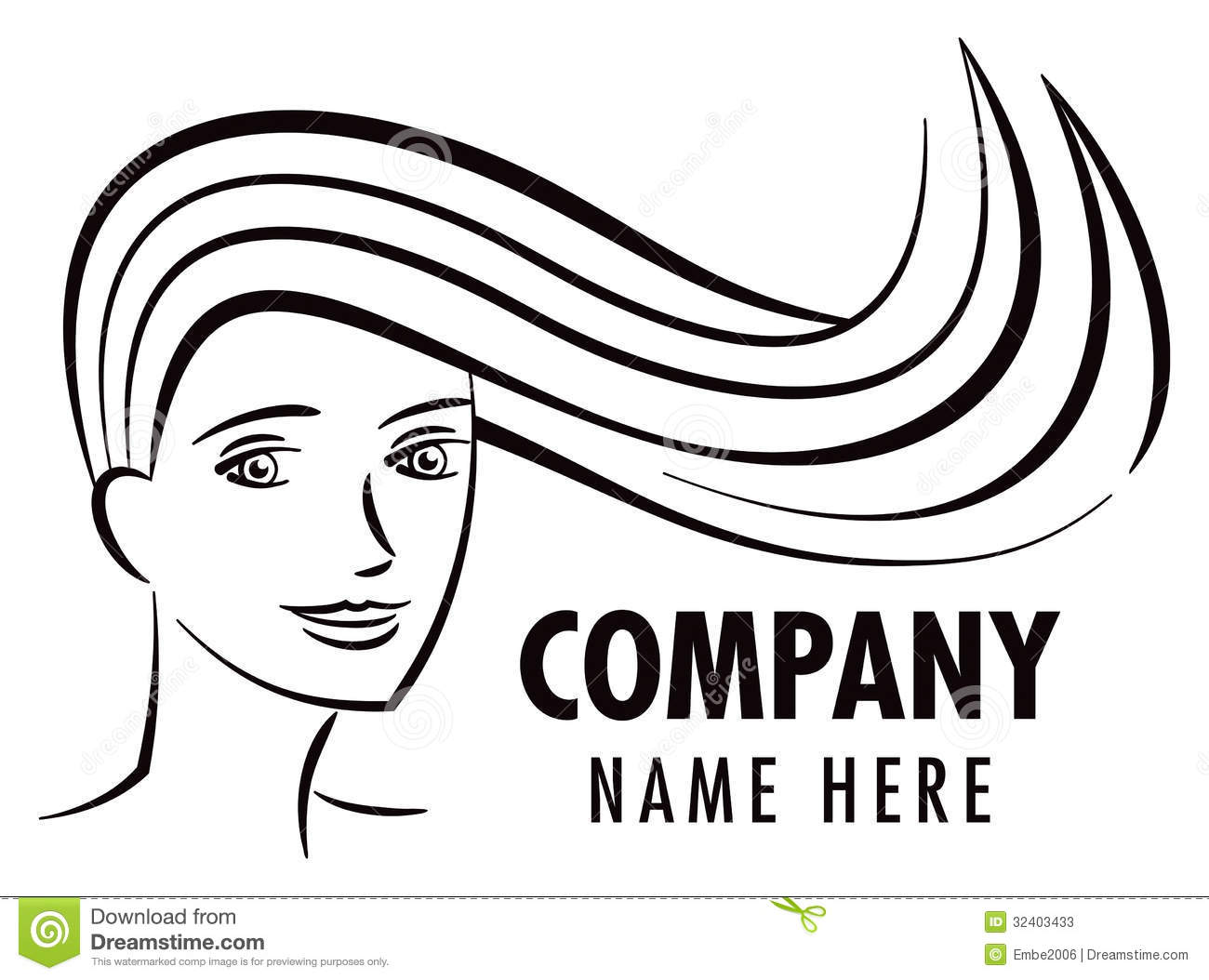 Logo Salon De Coiffure Logo De Salon De Coiffure Photos Stock Image 32403433