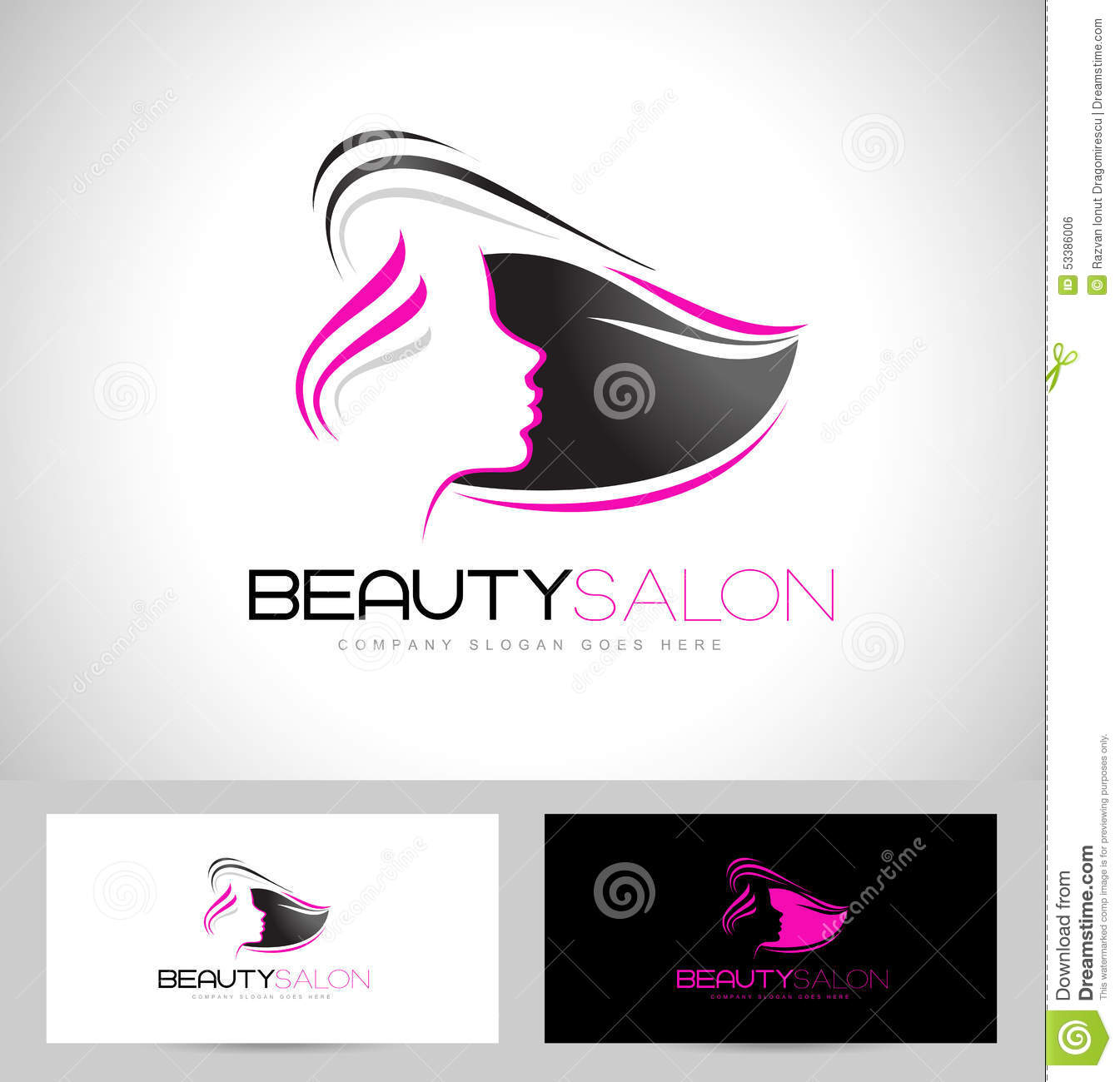 Logo Salon De Coiffure Logo De Salon De Coiffure Illustration De Vecteur Illustration Du