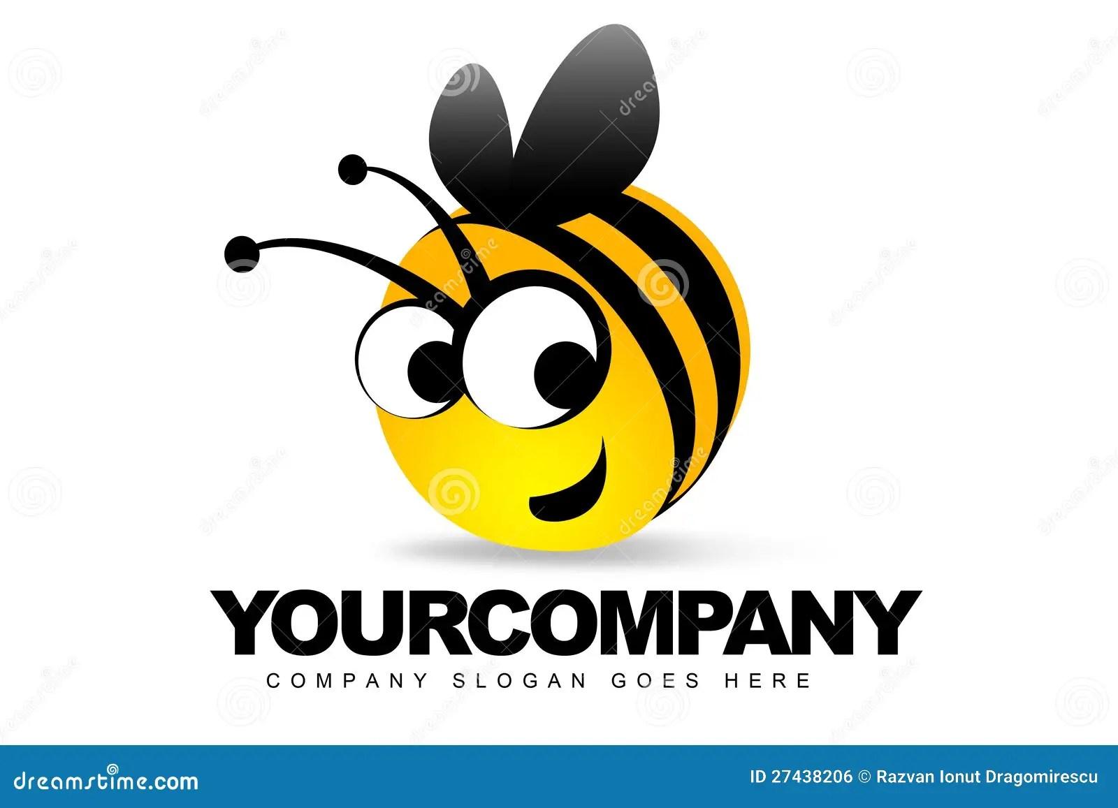 Cute Bees Wallpaper Logo De Sourire D Abeille Image Libre De Droits Image