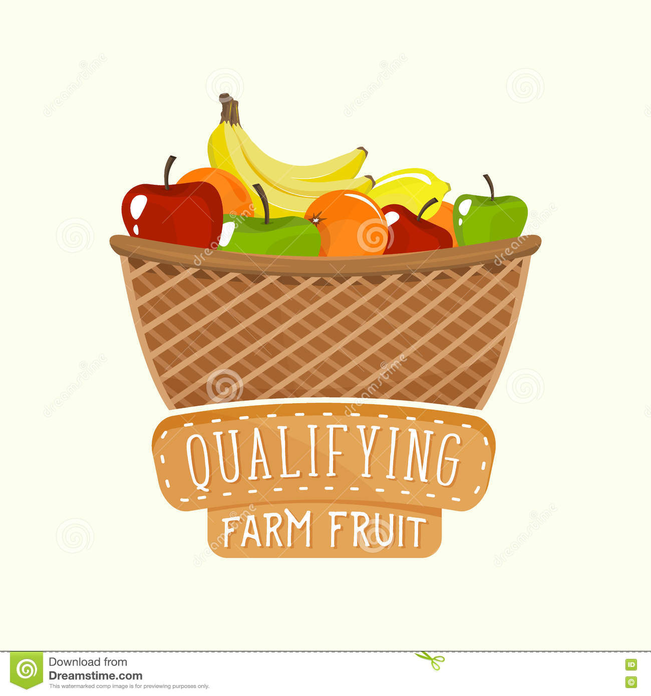 Designer Fruit Basket Logo Design Of Fruit Basket With Lettering Vector