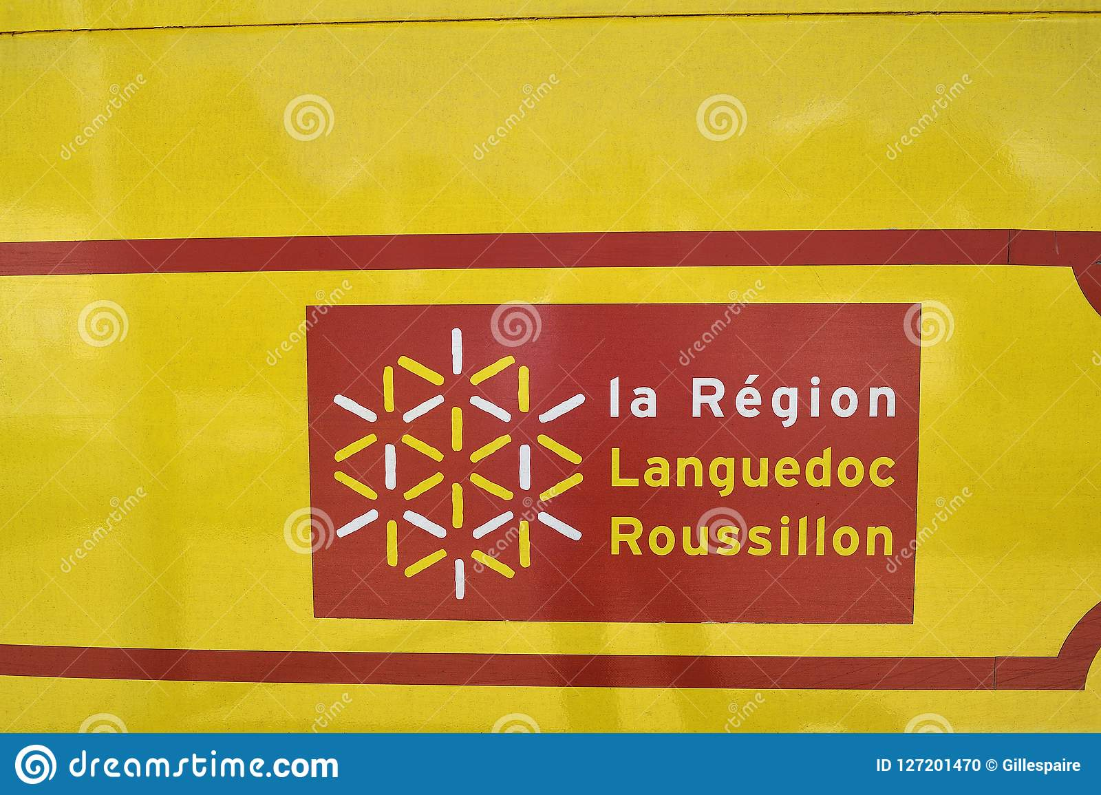 Languedoc Roussillon Région The Logo Of The French Region Of Languedoc Roussillon Editorial