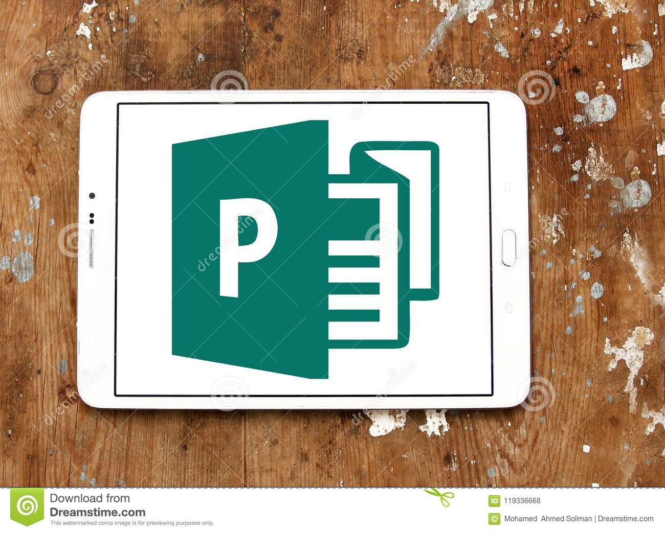 Office Publisher Microsoft Office Publisher Logo Editorial Stock Photo Image Of