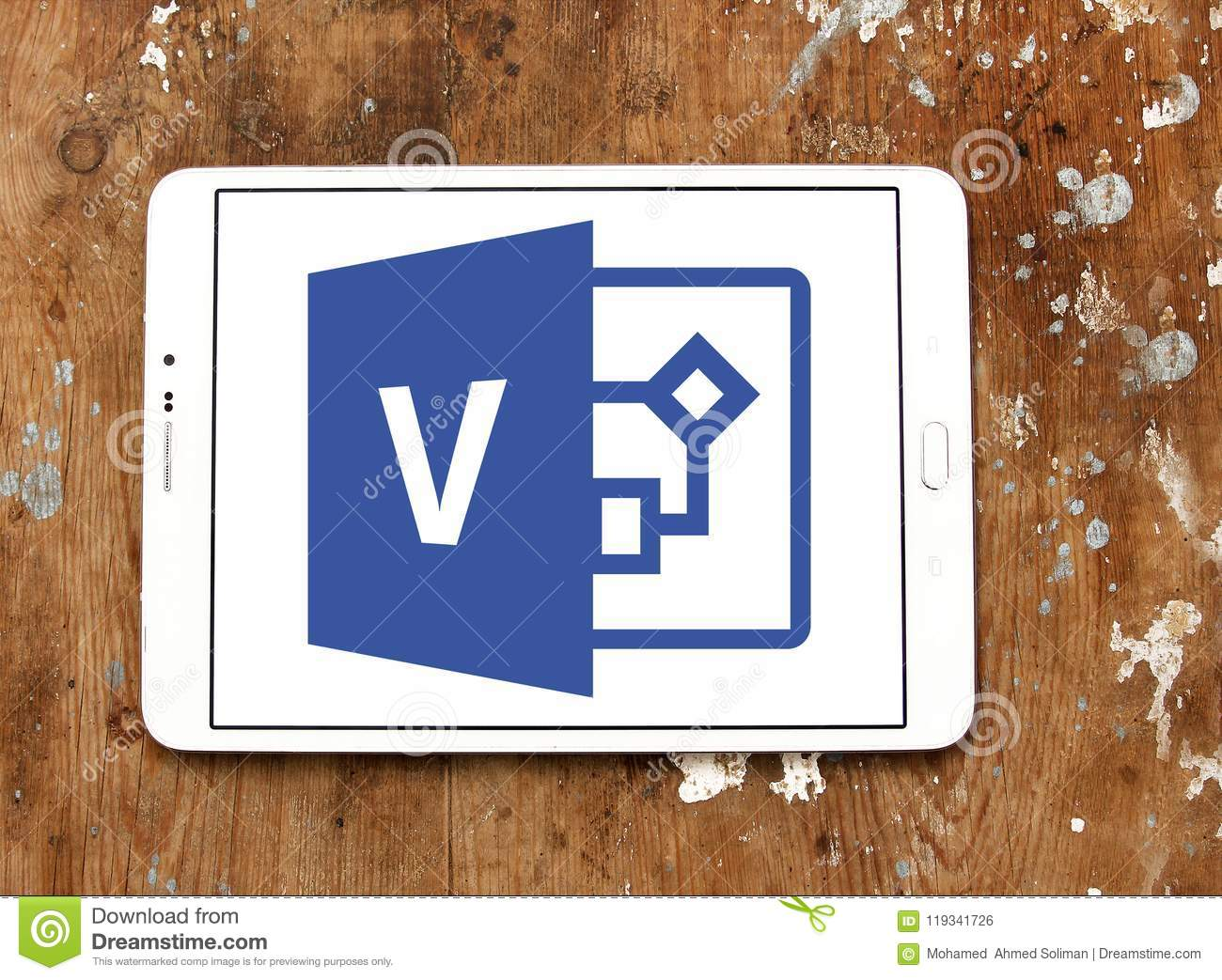 Visio Office Microsoft Visio Logo Editorial Photo Image Of Sign 119341726