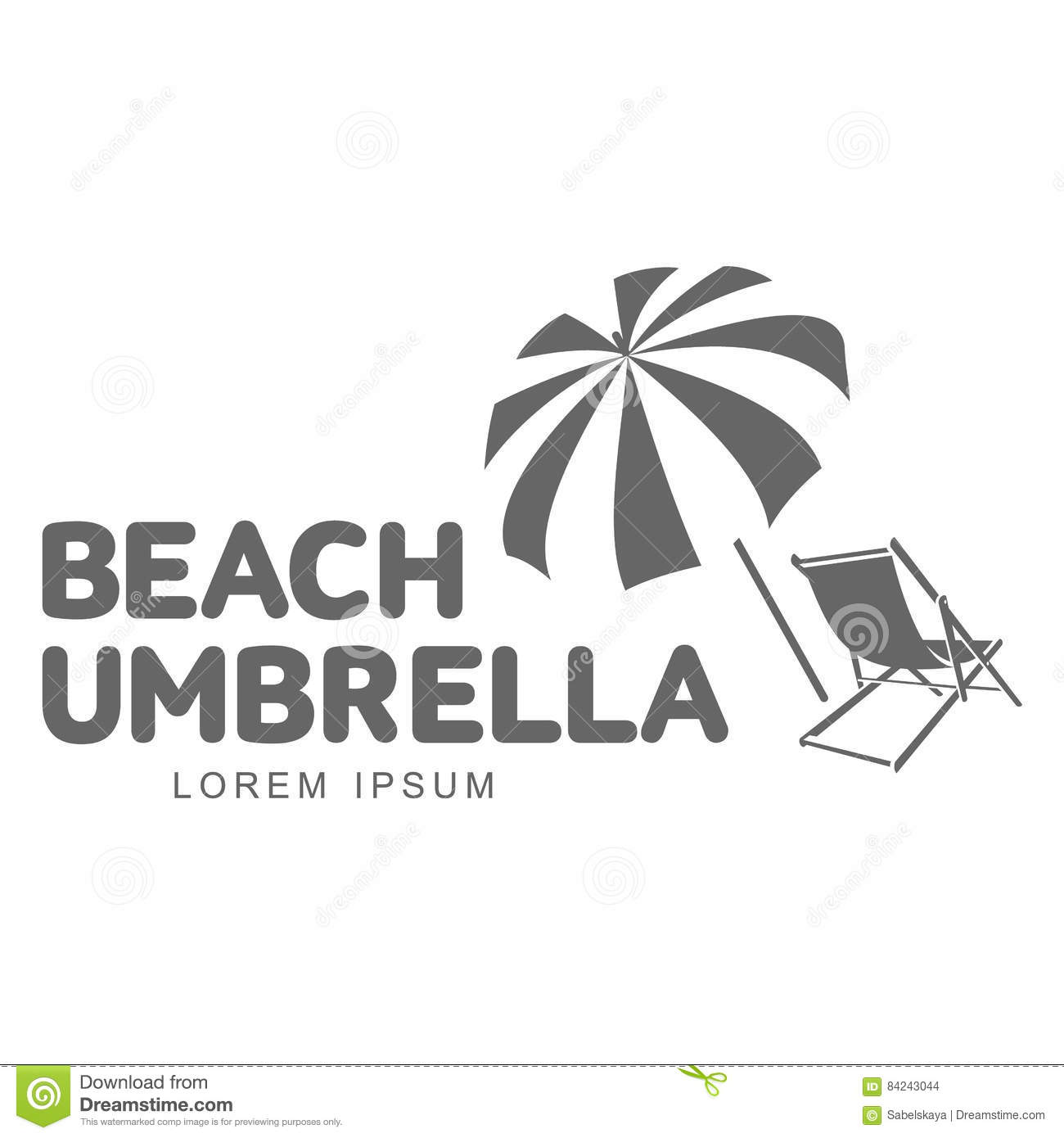 Chair beach umbrella and chair black and white - Beach Umbrella And Chair Black And White Logo Template With Beach Umbrella And Sun Bathing Download