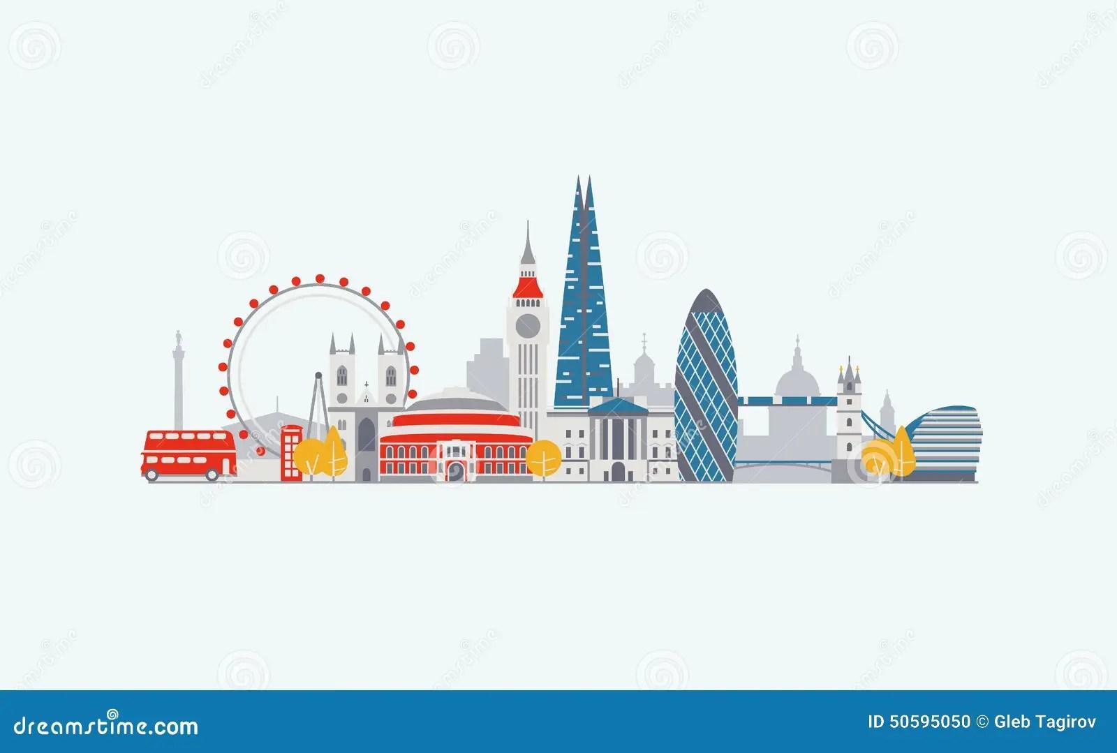 Cartoon Animation Wallpaper Free Download London Skyline Stock Vector Image 50595050
