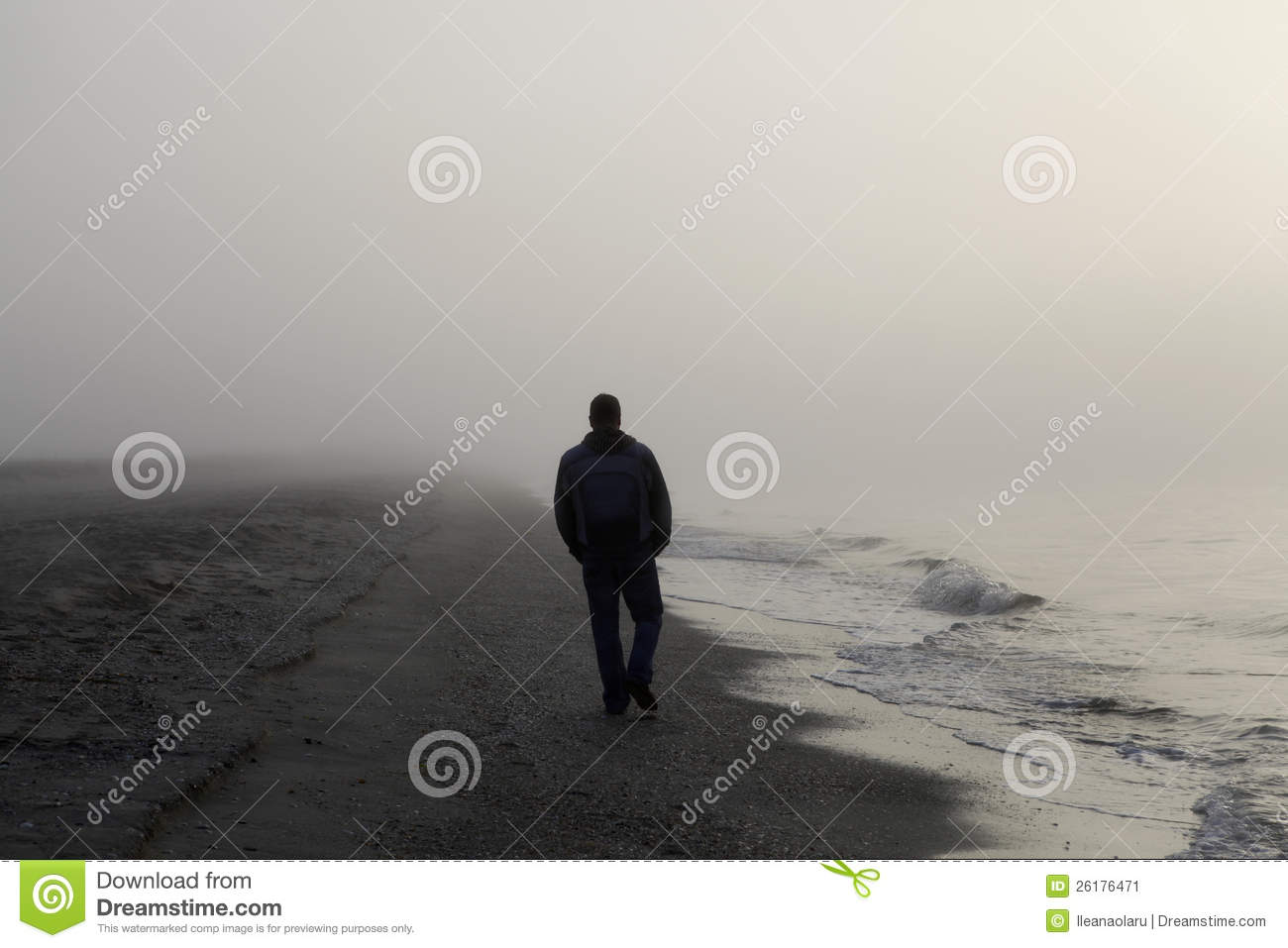 Sad Animation Wallpaper Lonely Man Walking On A Beach Stock Image Image 26176471