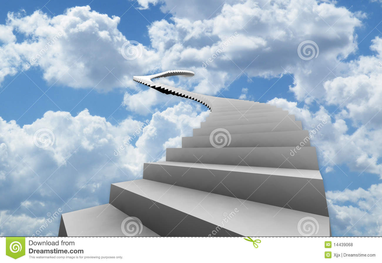 3d Wallpaper Free Download Of God Long Stairs On Heaven Stock Illustration Image Of Space