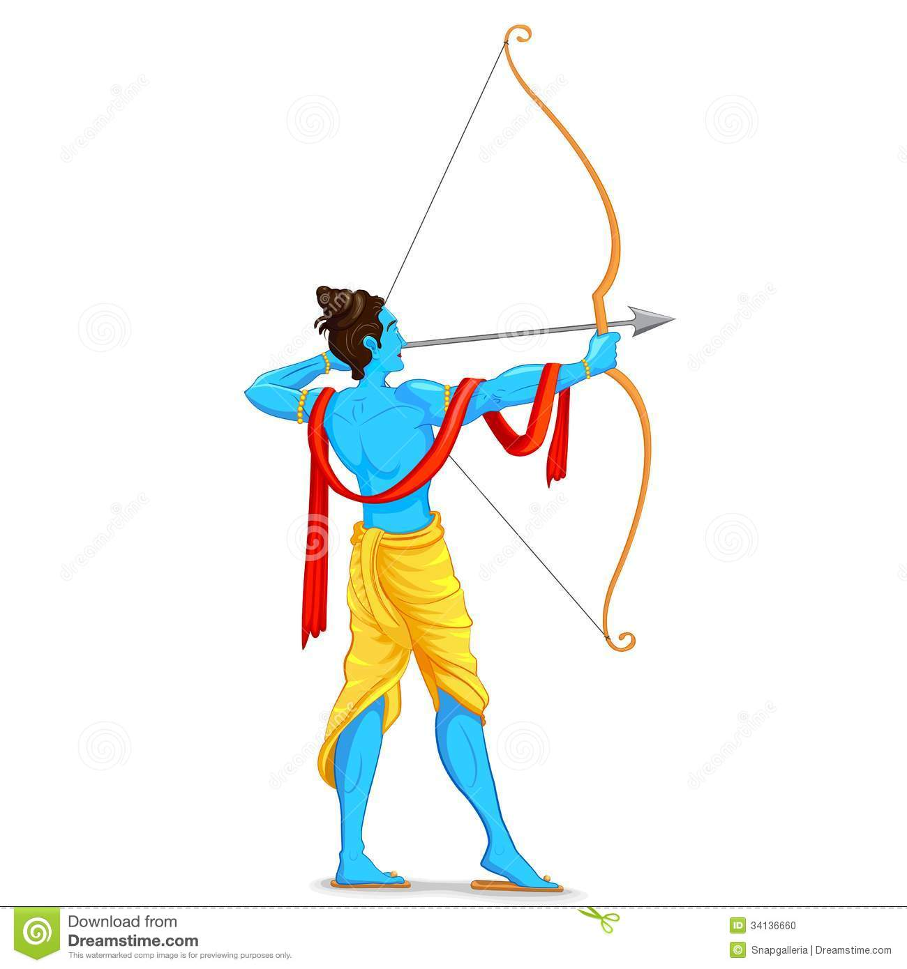Lord Ganesha Animated Wallpapers Lord Rama With Bow And Arrow Stock Photo Image 34136660