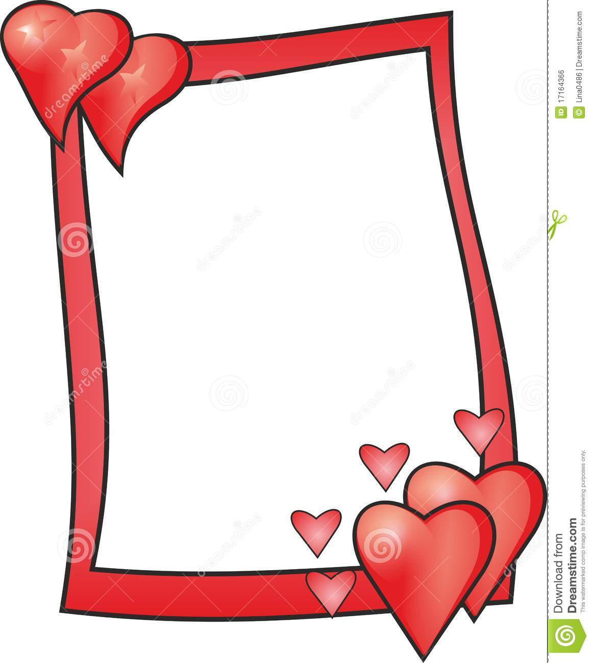 3d Love Red Heart Wallpaper Love Frame Royalty Free Stock Image Image 17164366
