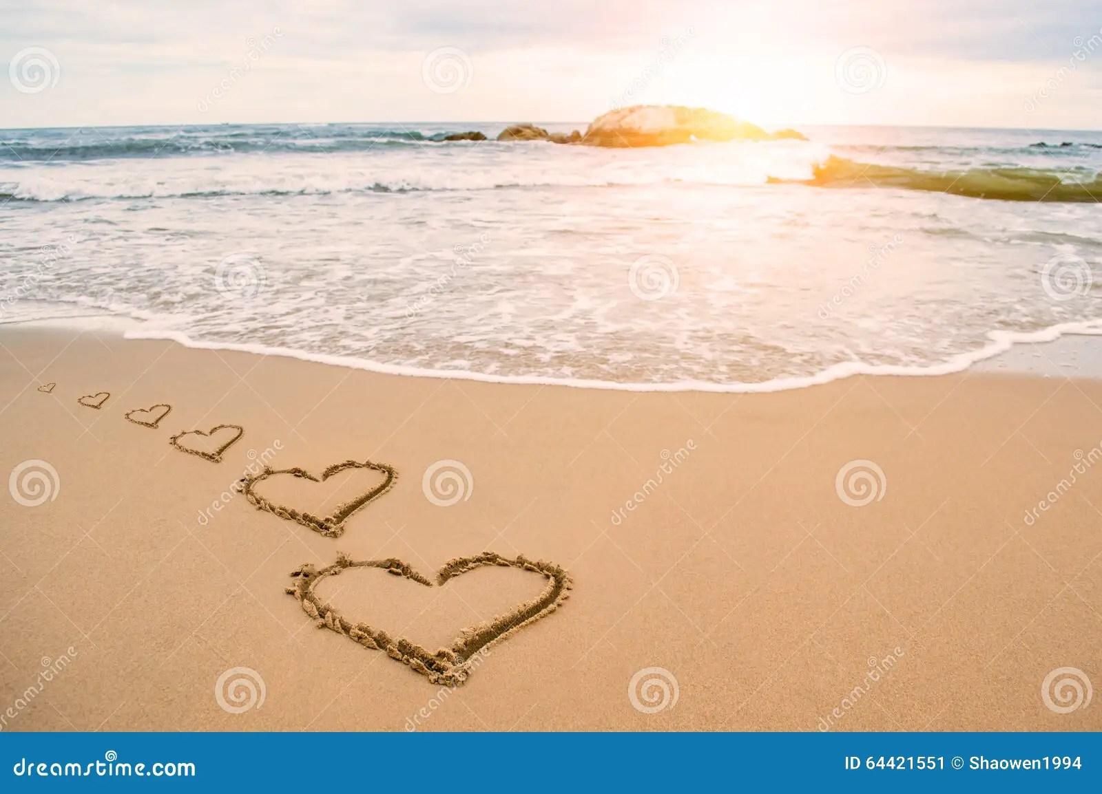 Lds Quote Wallpaper Love Heart Romantic Beach Stock Photo Image 64421551