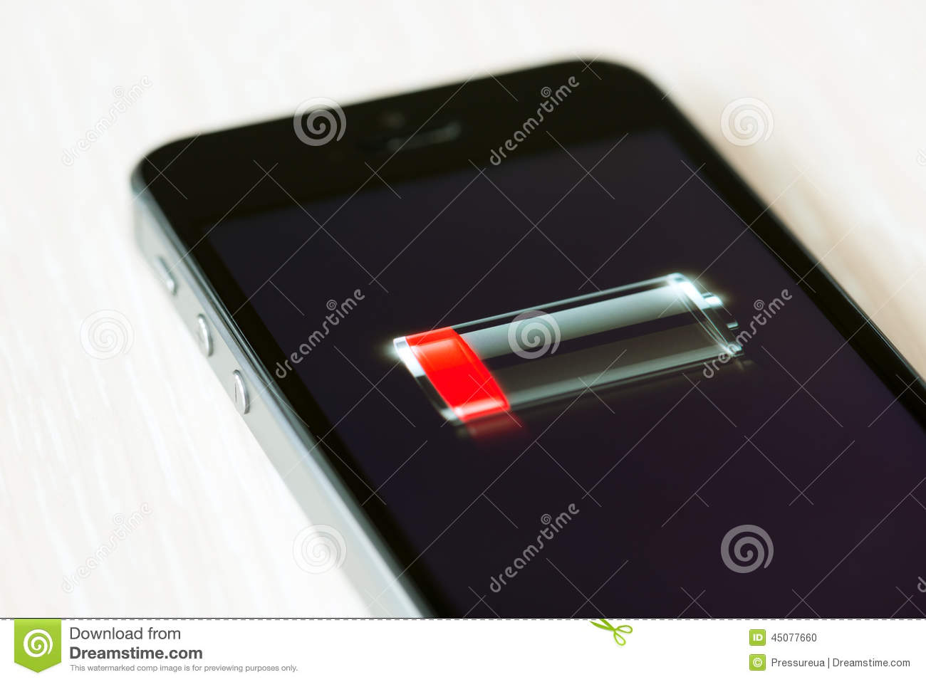 Battery Symbol Iphone Low Battery On Apple Iphone 5s Editorial Image Image Of