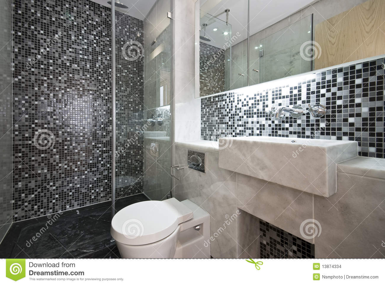 Meuble Sdb Brico Depot Luxurious Bathroom In Black And White Stock Images - Image