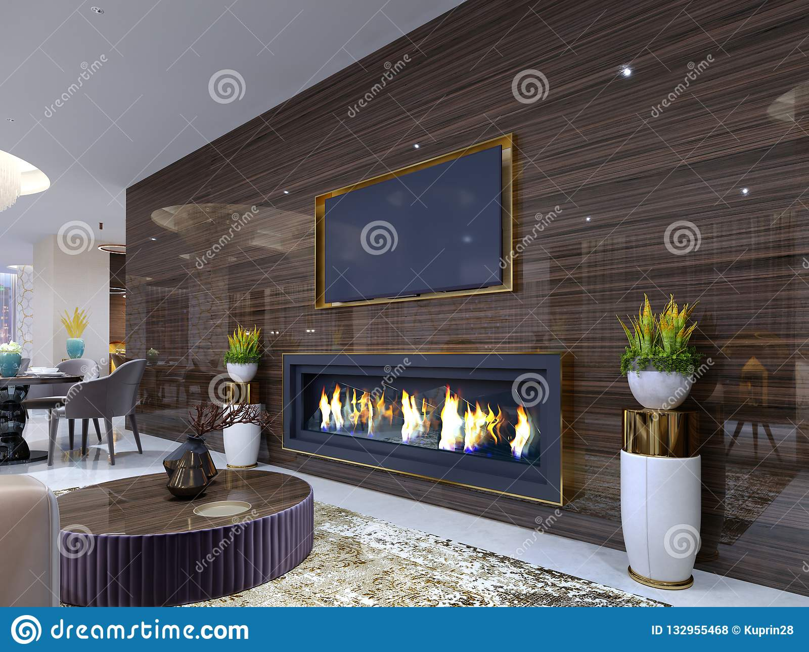 Modern Fireplace Images Luxurious Modern Fireplace In The Hotel In A Cozy Waiting Area