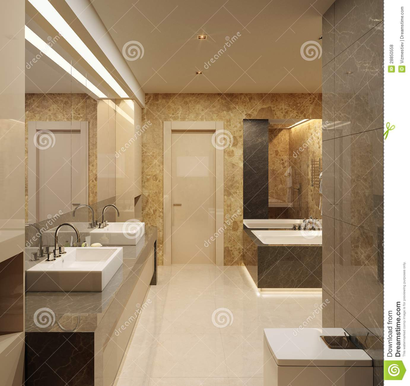 Badezimmer Kamera Luxury Bathroom Modern Style Stock Illustration Image