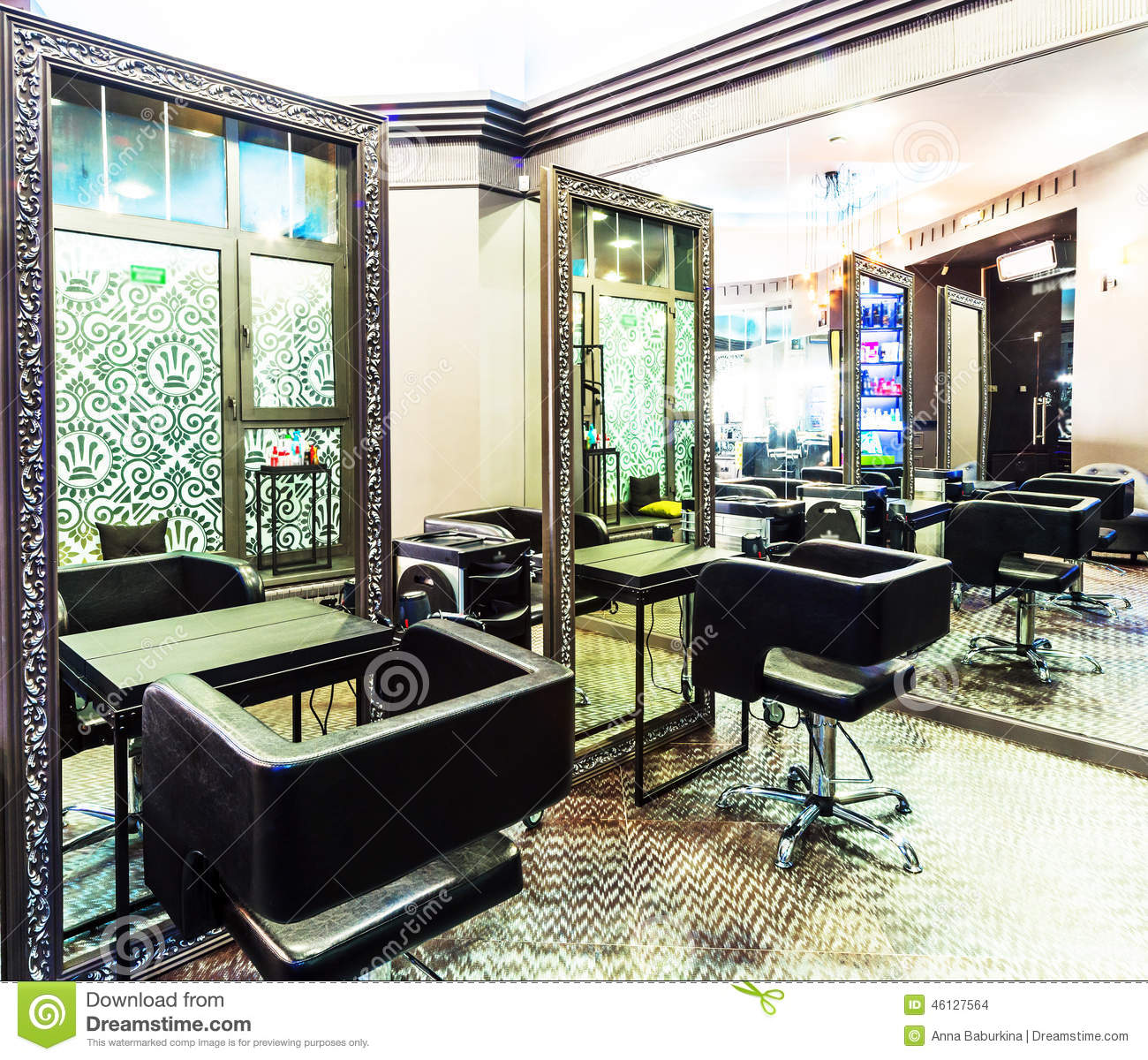 Salones De Belleza De Lujo Luxury Beauty Salon Stock Photo Image Of Lighting Inside 46127564