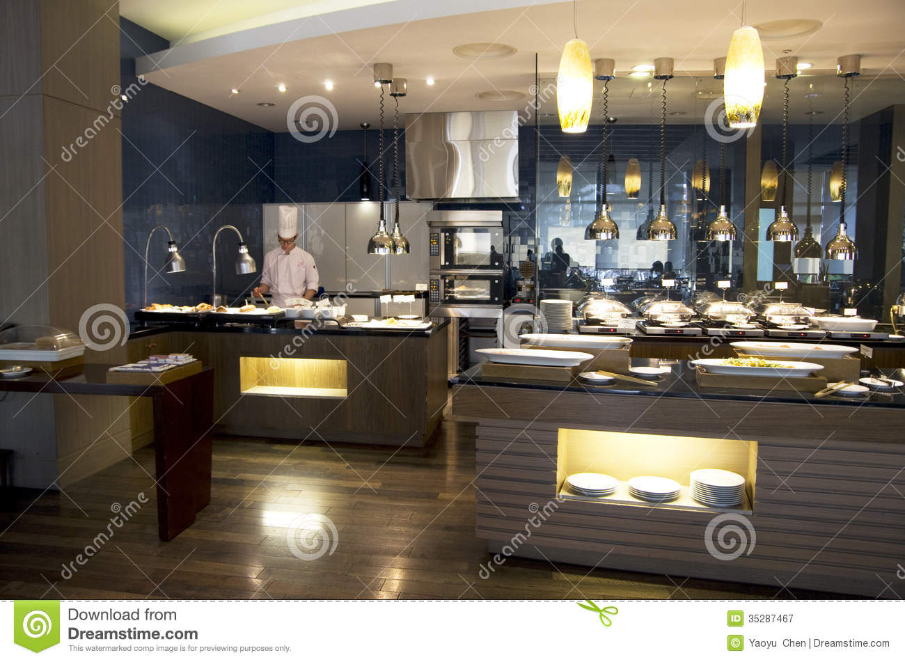 Buffet Cuisine Design Luxury Buffet Restaurant Editorial Photography Image