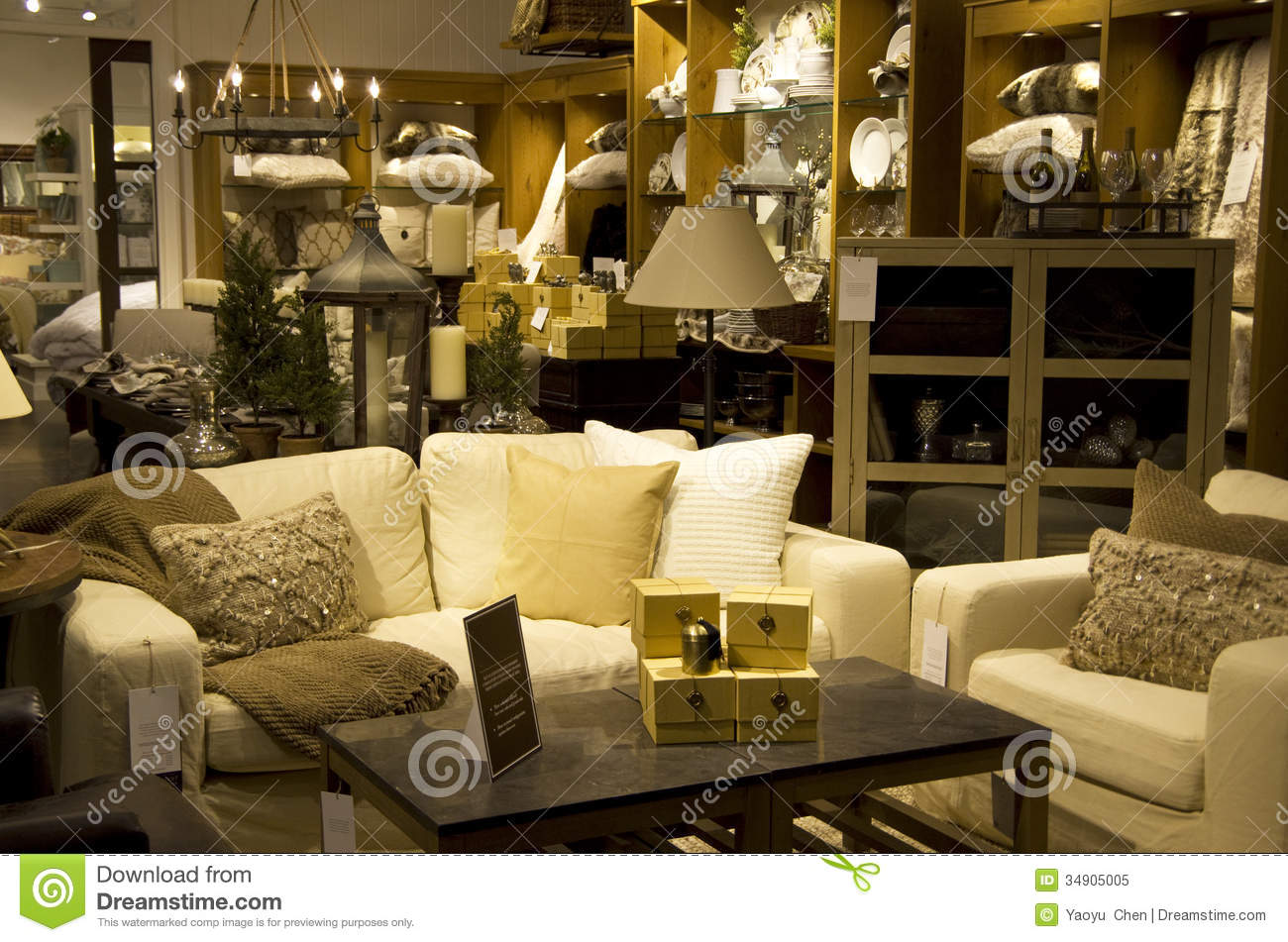 Luxury Furniture Home Decor Store Stock Image Image Of Indoors Table 34905005