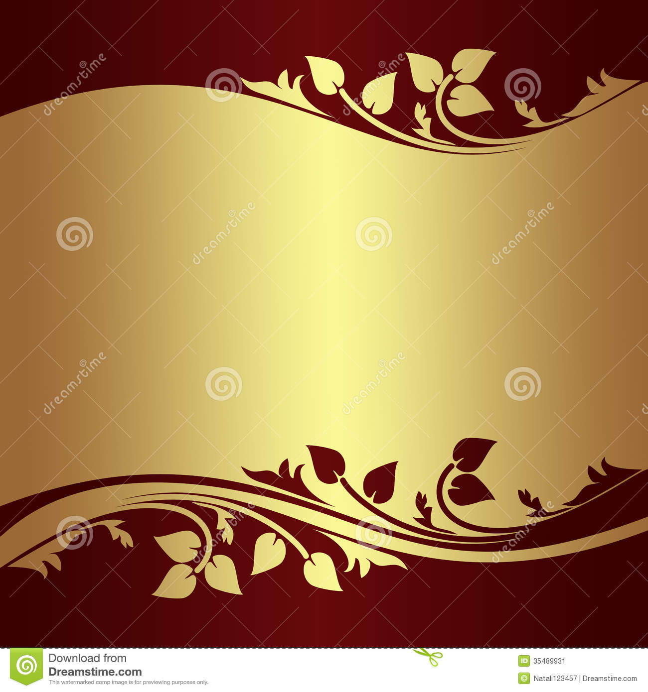 Old Paper Wallpaper Hd Luxury Golden Background Witth Floral Borders Stock Image