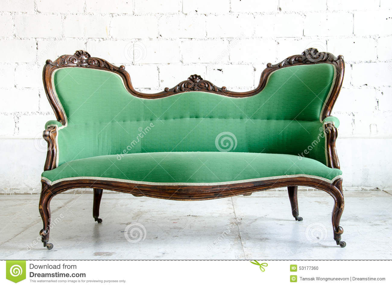 Vintage Couch Luxury Green Vintage Style Armchair Sofa Couch In Vintage Room