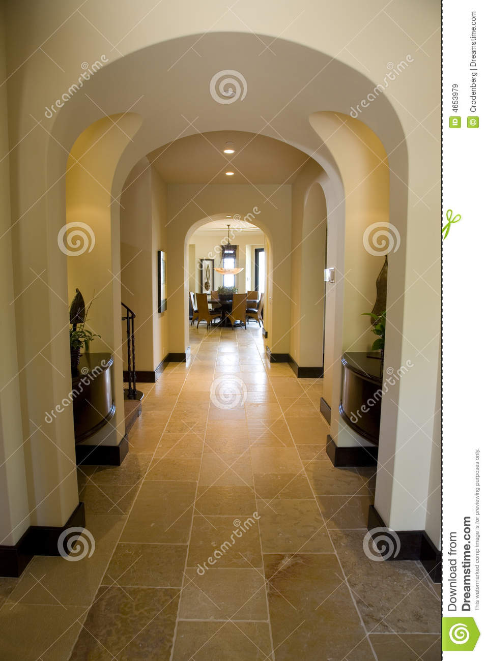 Furniture For Less Luxury Home Hallway. Royalty Free Stock Images - Image