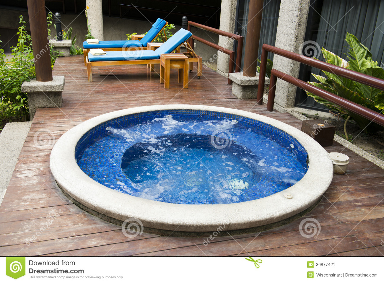Jacuzzi Pool Gspa Luxury Hotel Resort And Hot Tub Water Spa Stock Image