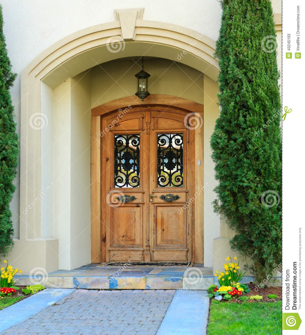 Luxury Home Entrance Luxury House Entrance Porch Stock Photo Image 43245193