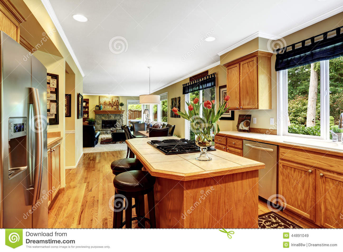 Kitchen Island Clearance Sale Luxury House Interior Kitchen Room Stock Image Image Of Kitchen