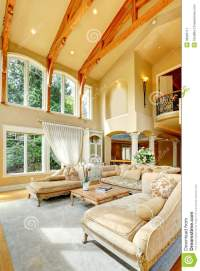 Luxury House Interior. Living Room Stock Image - Image of ...