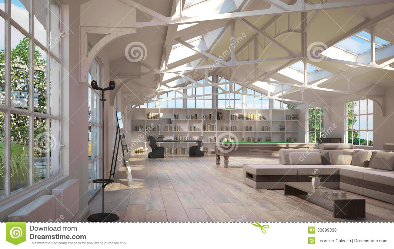 Slaapkamer Luxe Inrichten Luxury Loft Interiors Stock Photo - Image: 30899330