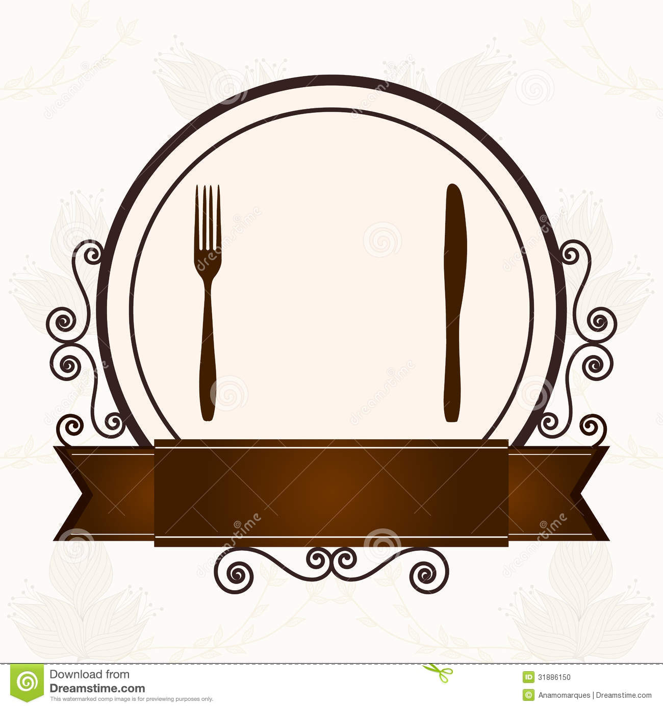 Posate Ristorante Luxury Menu With Cutlery Stock Vector Illustration Of