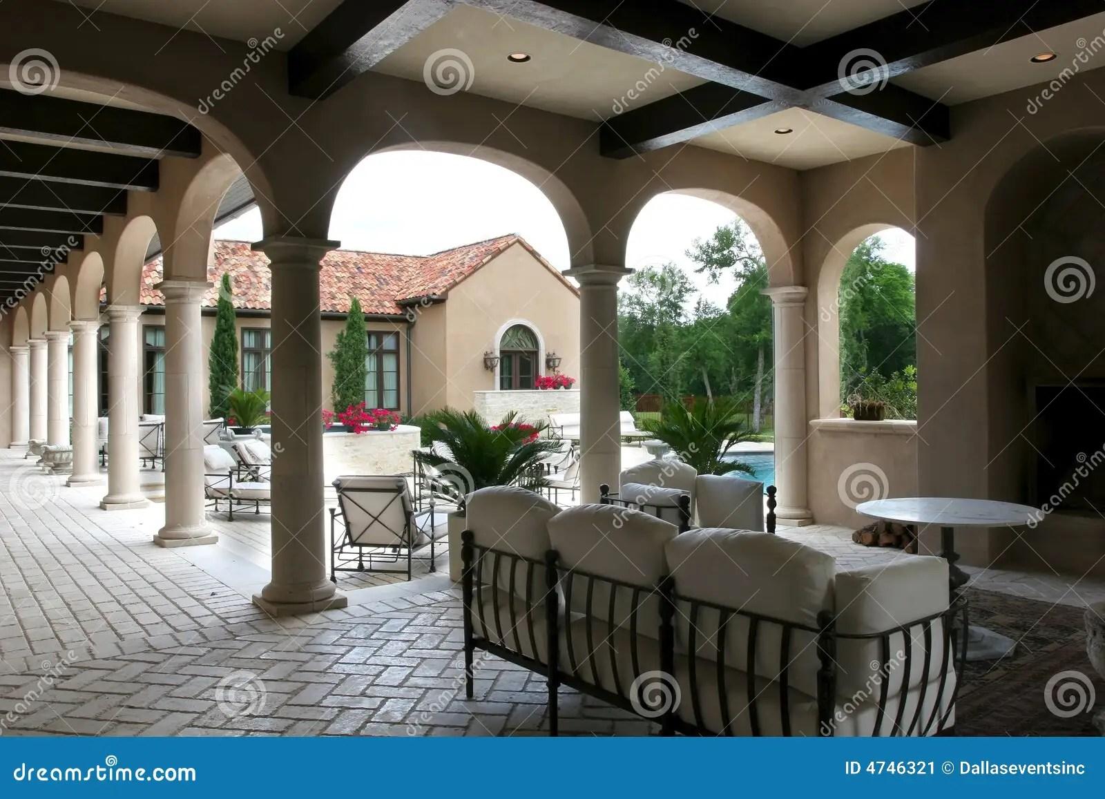 luxury spanish style home pool stock image image luxury spanish style hacienda marisol malibu february