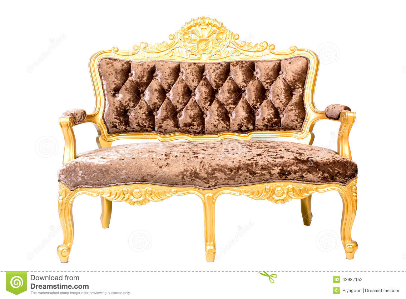 Sofa Vintage A Vendre Luxury Vintage Brown Couch Isolated On Stock Photo Image Of